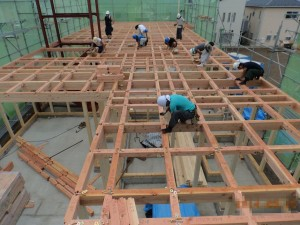 新築工事 建て方