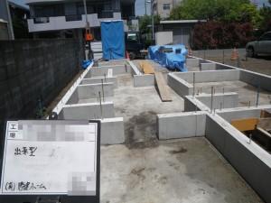 3階建て住宅基礎工事